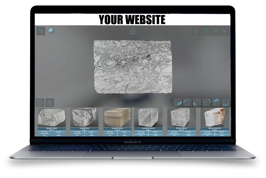 Your 3D Blocks into your website